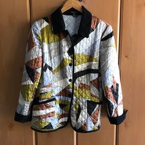 Etcetera Abstract Quilted Silk Jacket